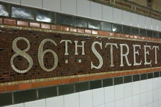 86th Street Subway Tile marker