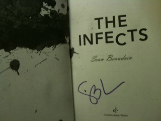 "Sean Beaudoin autograph ""The Infects"""