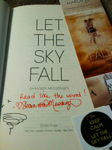 Let the Sky Fall autograph and swag