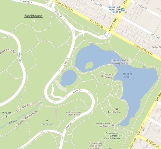 Current Map McGown's Pass Central Park