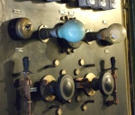 Generator with light bulbs and knobs