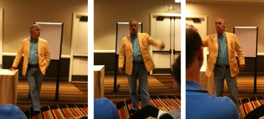 Henry Winkler acts out advice to writers