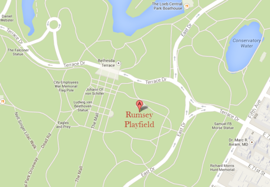 Rumsey Playfield map
