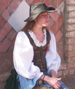 Young woman in old west costume