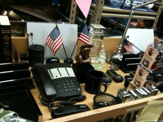 Patriotic props used in an episode of Glee