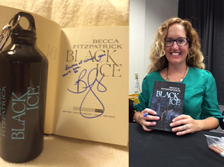 Becca Fitzpatrick, Black Ice signed copy