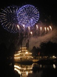 Disneyland fireworks, Rivers of America