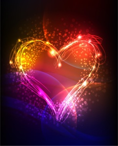 color heart light