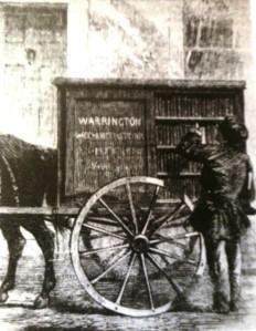 Preambulating library Warrington England 1859