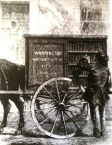 Preambulating library Warrington England 1859