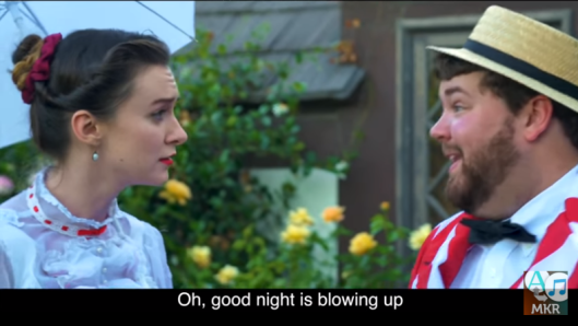 Mary Poppins and Bert in Jolly Holiday