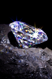 diamond sitting on coal