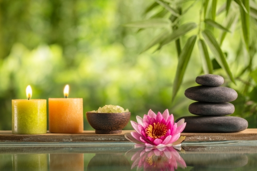 Tranquil spa setting