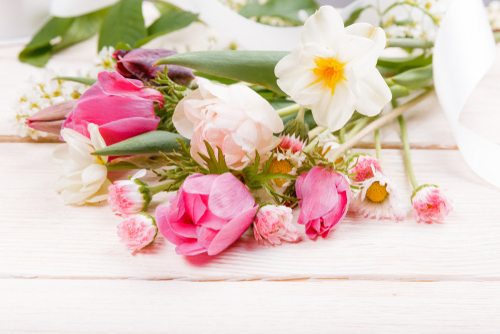 Spring flowers, bouquet