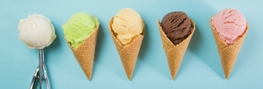 4 ice cream cones