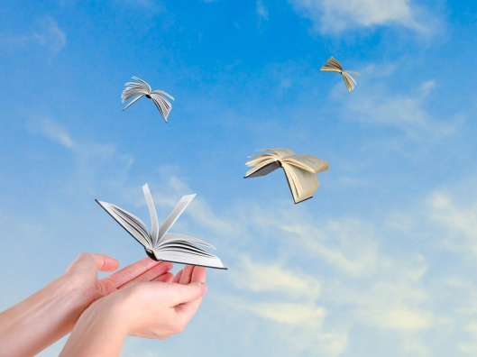 Books in flight